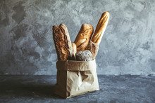 French Pastries, Baguettes On ...