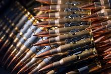 Machine Gun Ammunition Stacked...