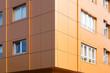 canvas print picture - aluminium composite panels to repair , restore , the facade  of  building