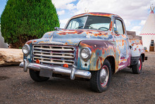 Vintage Rusted Studebaker Pickup Truck Circa 1946 - Front View