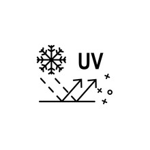 Uv Winter Textile Fabric Icon. Element Of Fabric Features Icon