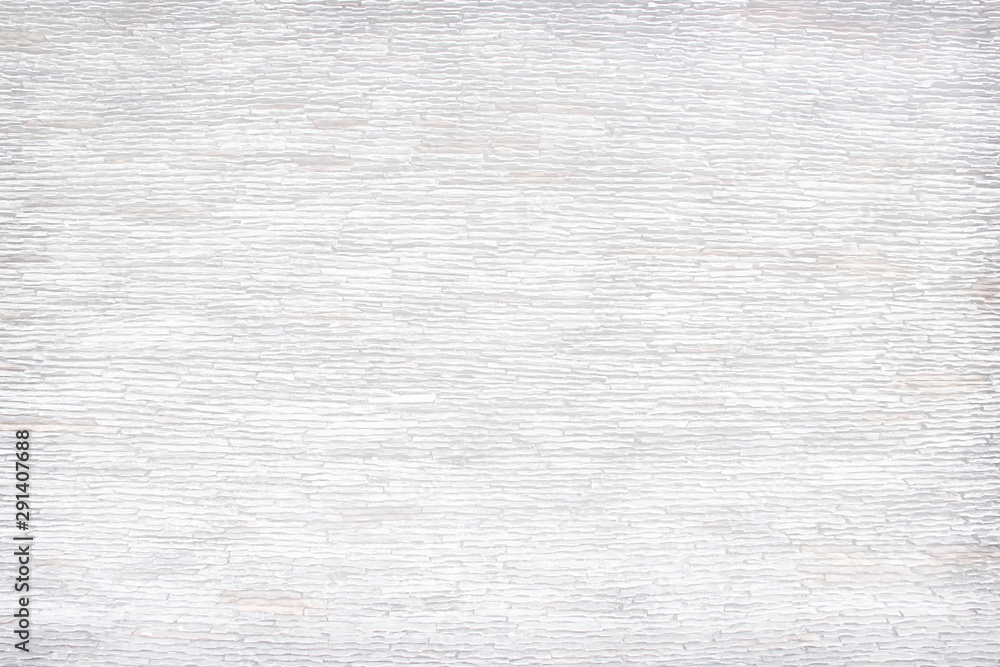 Fototapety, obrazy: Layered stone pattern delicate texture on a concrete wall , gray or white nature abstract horizontal vintage background