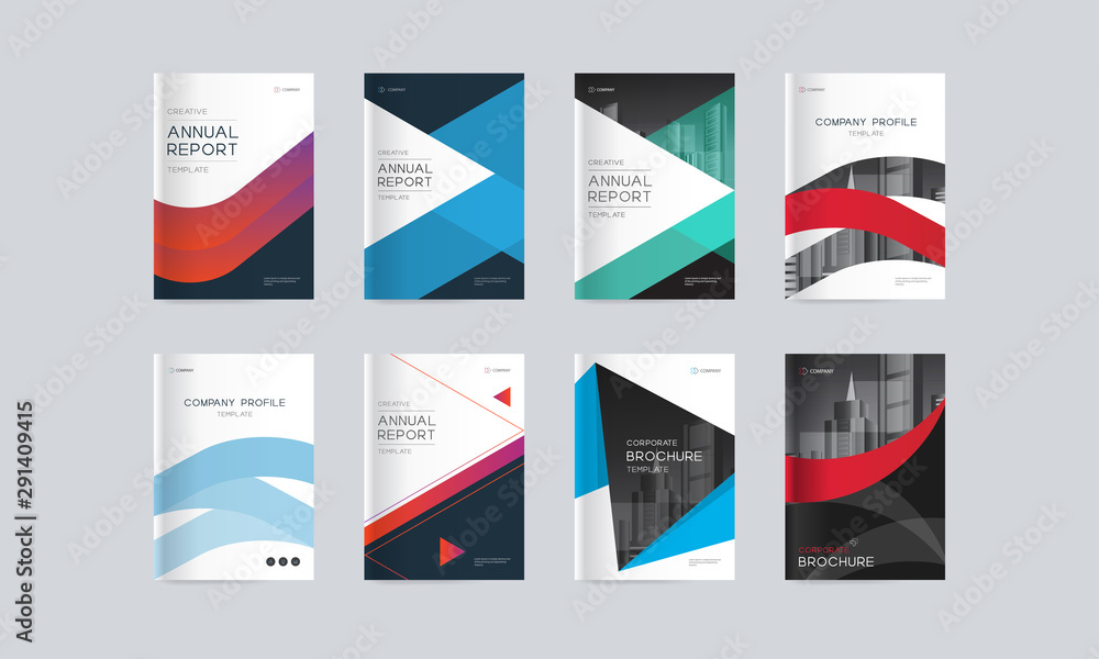 Fototapeta Abstract cover design background template for company profile, annual report, brochures, flyers, presentations, magazine, and book