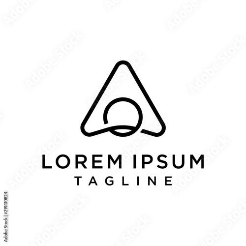 Fototapeta Initial Letter Logo AO, OA Logo Template