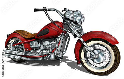 Fotografiet  Classic vintage motorcycle.
