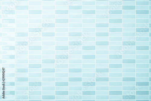 Türaufkleber Künstlich Blue pastel ceramic wall and floor tiles abstract background. Design geometric mosaic texture decoration of the bedroom. Simple seamless pattern for backdrop advertising banner poster.