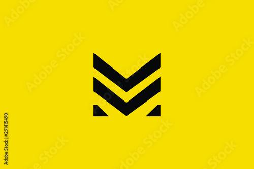 Carta da parati  Initial based clean and minimal Logo