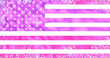 Leinwanddruck Bild - Pink Stars And Stripes American Flag