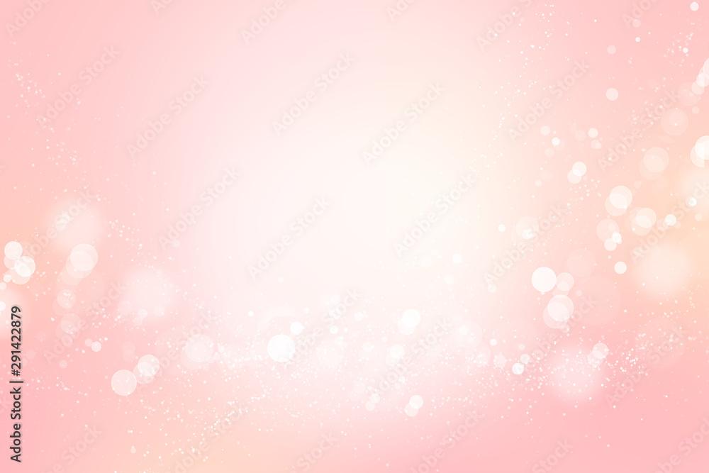 ピンクのボケ、抽象的背景