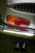 Red tail light of a classical vintage car