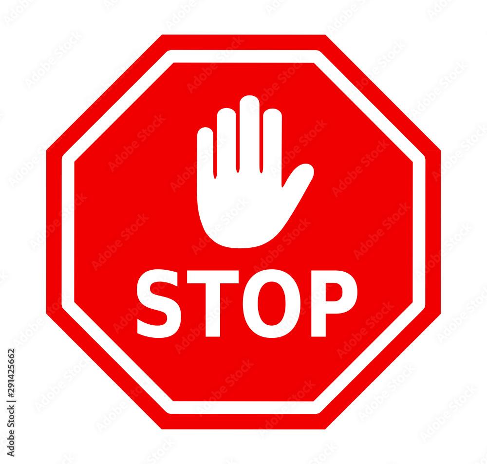 Fototapeta znak stop