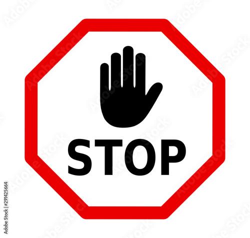 Fototapeta znak stop obraz