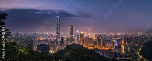 Cuadros en Lienzo  台湾・象山からの台北夜景