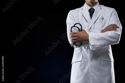 Photo ドクター コピースペース 腕組み