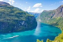 Fjord Geirangerfjord With Crui...