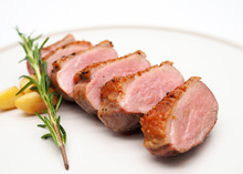 Grilled Duck Breast Slices, Wi...