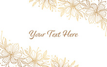 Minimalist Gold Floral Background