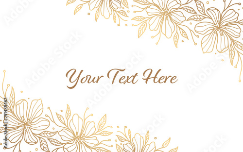 Obraz minimalist gold floral background - fototapety do salonu