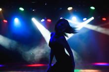 Silhouette Of Dancing Girl Aga...