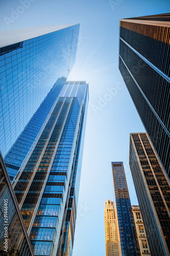 Skyscrapers skyline in New York City, the USA