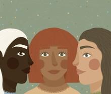 3 Women Of Various Ethnicities