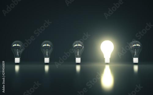 Obraz Many lamp stand in a row - fototapety do salonu