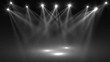 Leinwandbild Motiv abstract of empty stage with colorful spotlights or Several bright projectors for scene lighting effects . can be used for display or montage your products