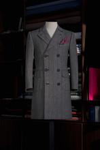 Elegance Bespoke Cashmere Winter-coat On A Mannequin. Men's Clothing.
