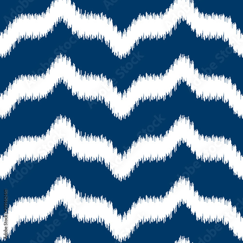 Foto auf Leinwand Boho-Stil Tribal vector seamless pattern. Hand drawn abstract background. Isolated on white background.