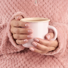 Hands Holding Cup Of Tea Or Co...