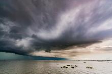Storm Over Tonle Sap Lake, Cambodia