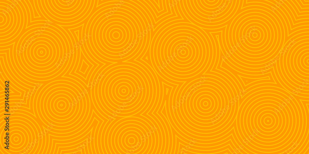 Fototapeta Abstract background of concentric circles in orange colors