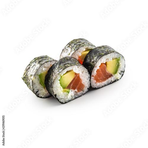 Fototapeta Sushi Maki different types isolated on white background obraz