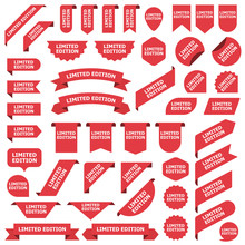 Big Set Of Red Stickers Limite...