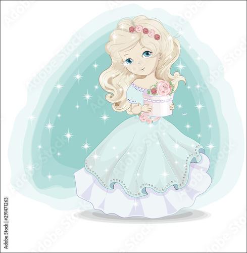 Piękna księżniczka o złotych włosach
