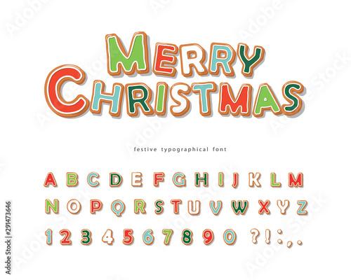 Obraz na plátně  Christmas Gingerbread Cookie font