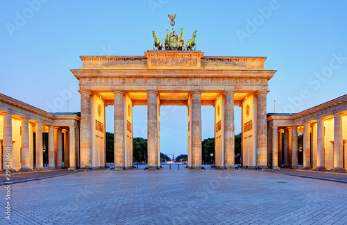 Fotobehang Berlijn Germany capital city - Berlin, Brandenburg Gate at night