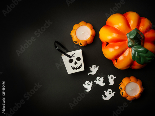Vászonkép Ozdoby halloween z góry