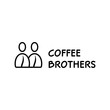 Coffee Brothers Bean Logo Template