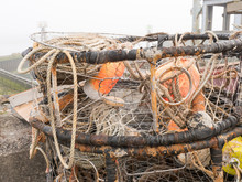 Close Up Detail Of West Coast Crab Traps