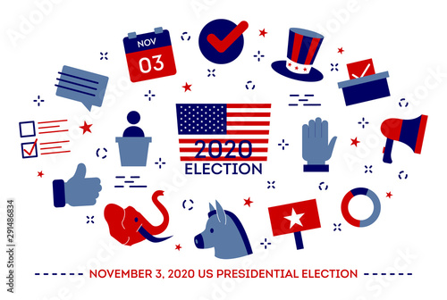 Valokuva 2020 presidential election in the USA. Idea of political