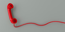 Red Retro Telephone Receiver F...