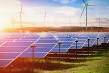 Solar Panel With Wind Turbines...