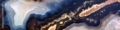 black and blue agate texture strip Fototapet