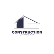 Architect Construction Logo Template. Vector Design Icon For Building Company.
