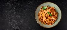 Spaghetti With Tomato Sauce On...