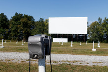 Lonely Loud Speaker For An Old Time Drive-in Movie Theater. The Speaker Would Hang From Your Car's Drivers Side Window