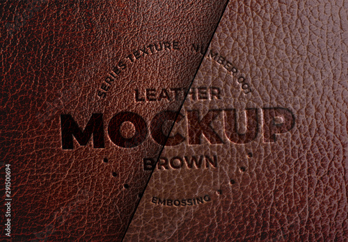 embossed brown leather mockup buy this stock template and explore similar templates at adobe stock adobe stock embossed brown leather mockup buy this