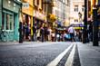 Leinwandbild Motiv London's West End- street scene close focused low / abstract view