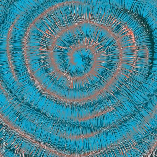 Spoed Foto op Canvas Spiraal Spirale azzurra sfondo